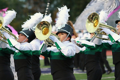 Stacey Diamond | The Goshen News Concord's mellophones and brass look sharp during their Semi-State performance in Class A at Ben Davis High School Saturday.