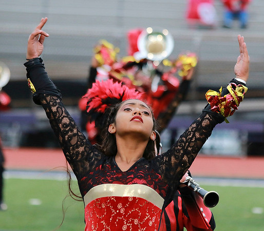 Stacey Diamond | The Goshen News Maria Flores, a junior, pulls out some dramatic flair for Goshen's ISSMA Semi-State performance.