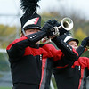 Stacey Diamond | The Goshen News<br /> Noah Brown plays the trumpet for NorthWood's band at ISSMA Semi-State.
