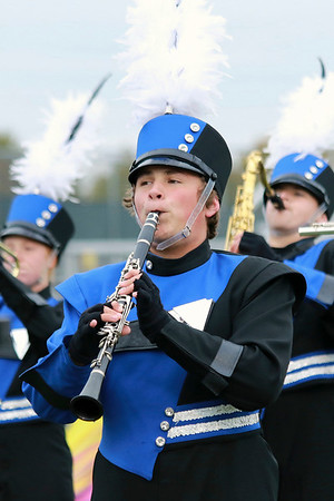 Stacey Diamond | The Goshen News Zach Silva plays the clarinet for Fairfield at ISSMA Semi-State held at Decatur Central High School for Class C.