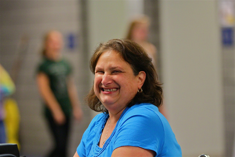 The ever-smiling, beautiful co-chairperson of an incredible marching band banquet, Mrs. Karen Schmitt.