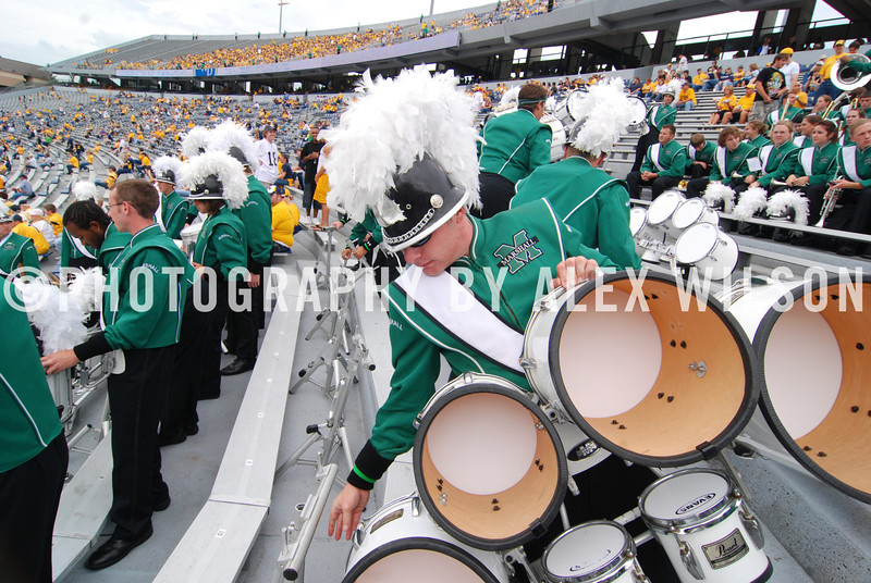 Marshall vs. West Virginia University. (MU vs. WVU)  Sept. 27, 2008.  (J. Alex Wilson)