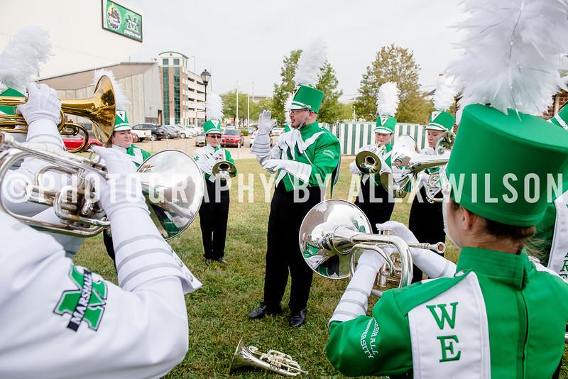 Marshall University football vs. Akron at Joan C. Edwards Stadium on the campus of Marshall University in Huntington, WV.  September 17, 2016.  (J. Alex Wilson)