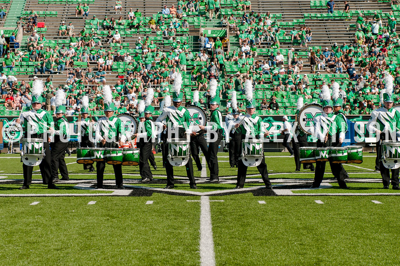 Marshall University football vs. Old Dominion University (ODU)  at Joan C. Edwards Stadium on the campus of Marshall University in Huntington, WV.  October 14, 2017.  (J. Alex Wilson)