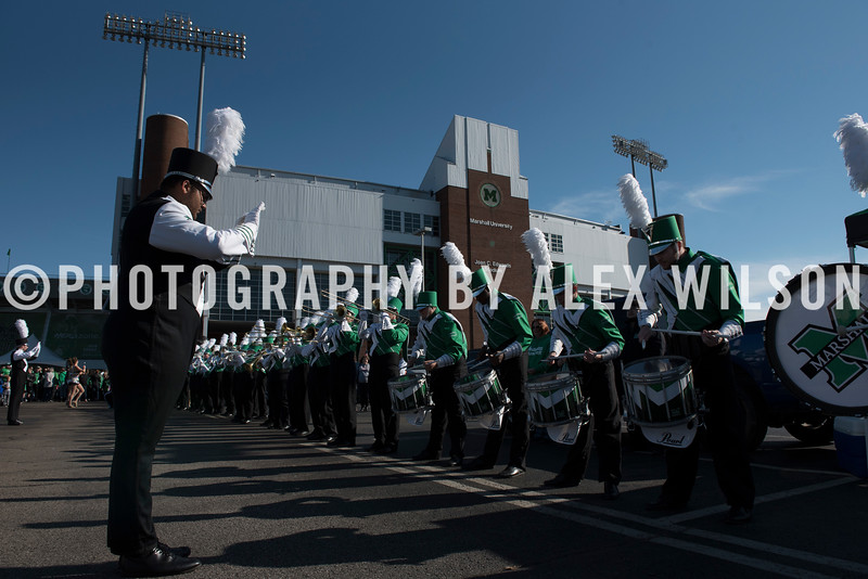 Marshall University football vs. Southern Mississippi University at Joan C. Edwards Stadium on the campus of Marshall University in Huntington, WV.  November 25, 2017.  (J. Alex Wilson)