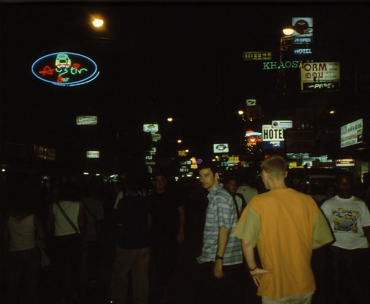 Erster Abend in Bangkok, Kao San Road