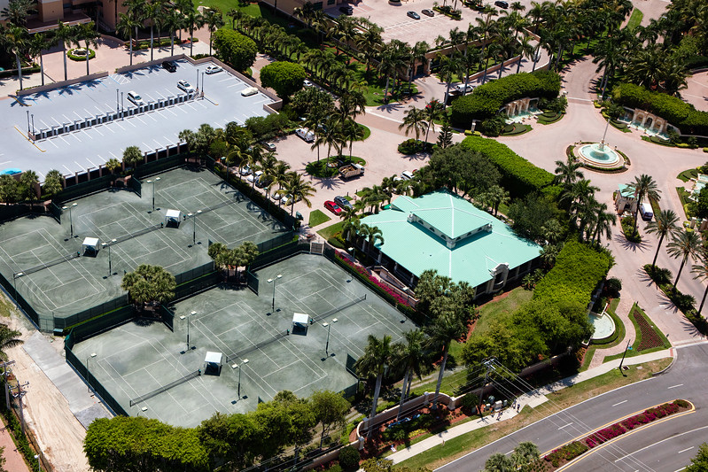 Cape Marco Tennis Aerial