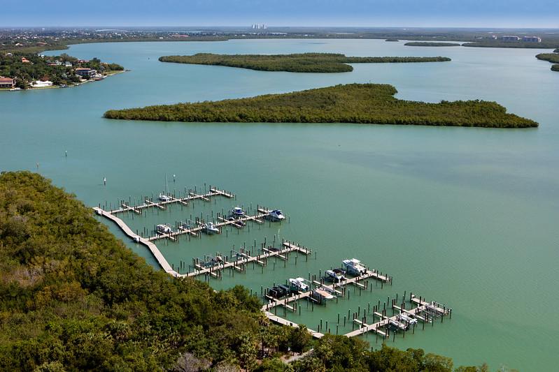 Key Marco Docks Aerial 1