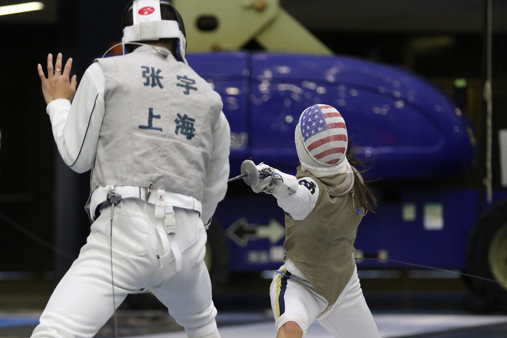 Notre Dame fencing with Shanghai Lixin Notre Dame, IN (Castellan Family Fencing Center) 3-16-2017
