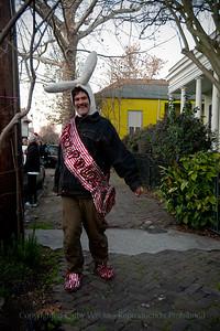 An enthusiastic parade participant!