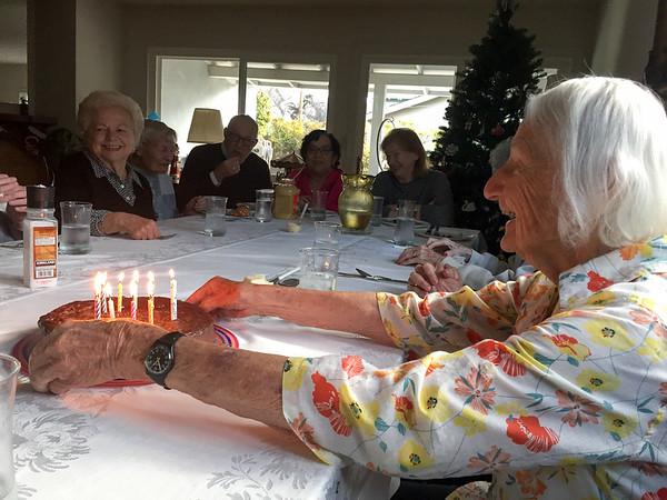 16-12-28 Margaret's100th birthday/teachers' lunch