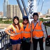 Segway riding stop on the Purple People Bridge over the Ohio River in Cincinnati;  July 2, 2014