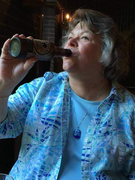 Margie with Kentucky Bourbon Barrel Beer - June 5, 2015 in Cincinnati, OH