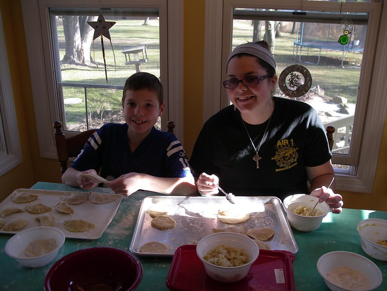Pierogi Making Time at Anne's home in Copley, OH - November 24, 2012