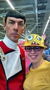 Comic Con - Nicole as Patrick and Allison as Sponge Bob - February 21, 2015