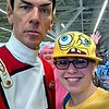 Comic Con - Nicole as Patrick and Allison as Sponge Bob - February 21, 2015