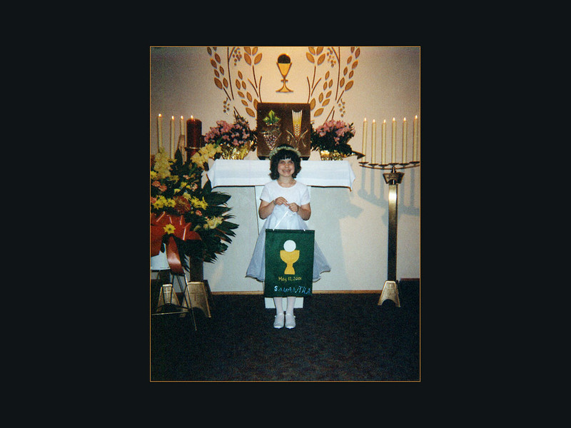 First Communion, May 12, 2001 at St. Bridget of Kildare Parish in Parma, OH