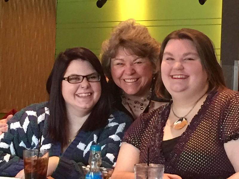 left to right:  Samantha, Margie, Nicole - Benihana's in Columbus - February 18, 2016