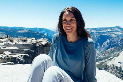 Maria Portait Half Dome Yosemite California