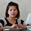 Trang Nguyen talked about learning English from Maria Ulloa Hancock. SENTINEL & ENTERPRISE/JOHN LOVE