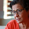 Maria Ulloa Hancock talks about how she started teaching English as a second language after she retired from Fitchburg High School in 2013.  SENTINEL & ENTERPRISE/JOHN LOVE