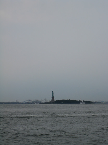 statue of liberty from battery park.