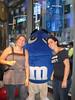 blue m&m.