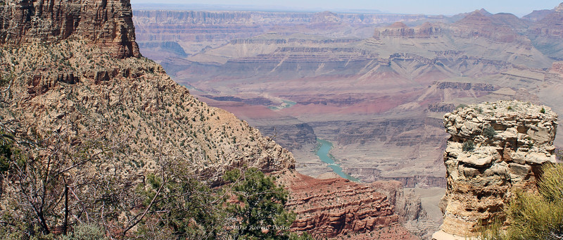 The Colorado River winds through Grand Canyon National Park