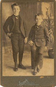 Herman (standing) and Walter Roy