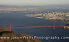 San Francisco and the Golden Gate Bridge aerial picture