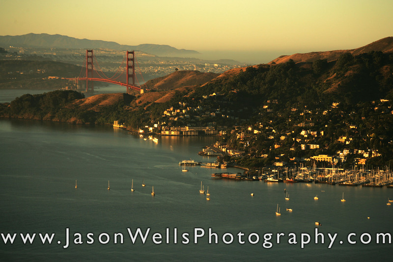 Sausalito and the Golden Gate Bridge aerial picture