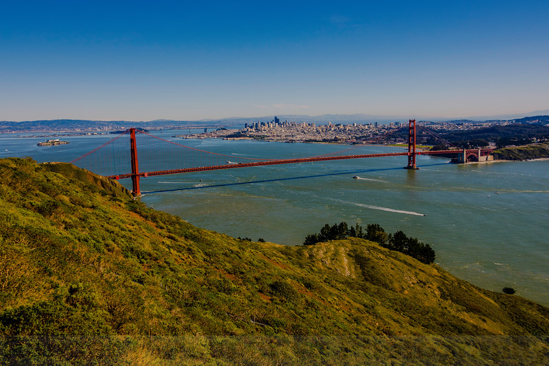 The Golden Gate from Hawk Hill in the GGNRA