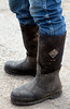 Jarrod Mendoza's work boots at Historic B Ranch in Point Reyes Station, Calif. on Thursday, August 23, 2012.(Special to the IJ/Jocelyn Knight)
