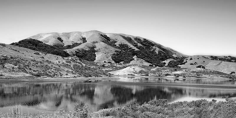 Nicasio (Marin County) reservoir, with water!