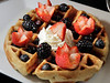 Belgian waffle with blackberries, blueberries and strawberries is a sweet treat at Cafe Verde in Corte Madera near Corte Madera Town Park , on Friday, December 28, 2012.(Special to the IJ/Jocelyn Knight)