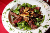 Roman Holiday, all natural grass fed hanger steak on a bed of fresh arugula with sauteed artichoke hearts, sundried tomatoes and sauteed fresh mushrooms, a popular entree at Fradelizio, an Italian restaurant in Fairfax, Calif. on Thursday, August 18, 2011.(Special to the IJ/Jocelyn Knight)