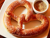 Warm, salted, house-made pretzel goes perfectly with a beer at The Hawk's Tavern on Miller Ave.  in Mill Valley, Calif. on Thursday, October 25, 2012.(Special to the IJ/Jocelyn Knight)