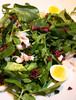 Nicoise Salad with rock shrimp,potato,olives,capers,and soft-paoched quail eggs on watercress at the Lark Creek Tavern in Larkspur, Ca on October 29, 2010.(Special to the IJ/Jocelyn Knight)