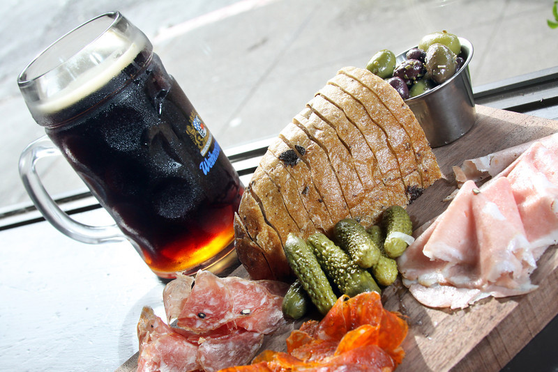 The Salami Board is a great addition to a cold beer at Mill Valley Beerworks in downtown Mill Valley, CA on Wednesday, June 23, 2010.(Special to the IJ/Jocelyn Knight)