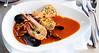 A bouillabaisse with house made chorizo, heirloom beans and rouille crouton at Murray Circle restaurant at Cavallo Point in Sausalito, Calif. on Thursday, September 1, 2011.(Special to the IJ/Jocelyn Knight)