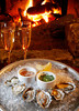 Make a special occasion of it with champagne and Kumamoto oysters served raw  at the bar in Nick's Cove in Marshall, Calif. on Tuesday, February 7, 2012. (Special to the IJ/Jocelyn Knight)