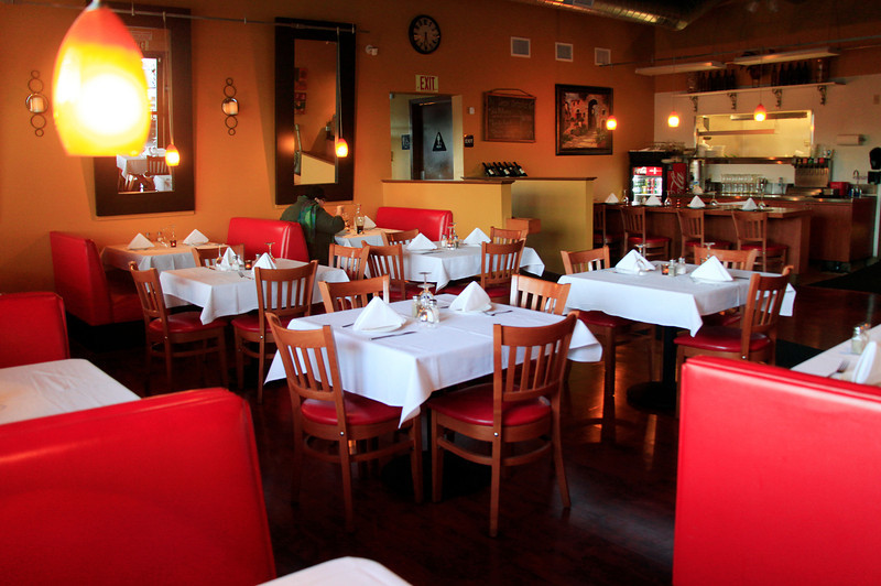 The warm toned interior and cozy booths of  Novato Cafe in Novato, Calif. on Thursday, March 1, 2012.(Special to the IJ/Jocelyn Knight)