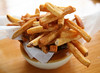 Pork Fries are a specialty at Marin Sun Farms Cafe in Pt. Reyes, CA,  where they render their own pork fat and fry the potatoes in it. Portions are large (for just $3.00)of the flavorful french fries and half-orders are available .(Special to the IJ/Jocelyn Knight)