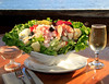 The Seafood Louie salad is big enough for two at Tony's Seafood restaurant, on Tomales Bay in Marshall, Calif. on Friday, April 20, 2012.The restaurant is open Friday, Saturday and Sunday, 12:00 -8:00PM. (Special to the IJ/Jocelyn Knight)