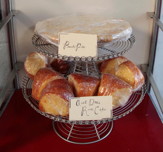 Comfort food desserts such as Peach pie and Aunt Dee's Rum Cake are available fresh daily at The White Rose Ranch in Novato, Calif. on Thursday, August 9, 2012.(Special to the IJ/Jocelyn Knight)