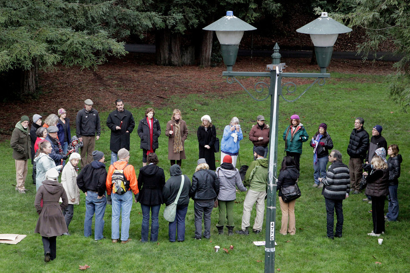 People from all over Marin came together for a vigil to mourn the tragedy in Connecticut at town park in Fairfax, Calif. Saturday, December 15, 2012. (Special to the IJ/James Cacciatore)