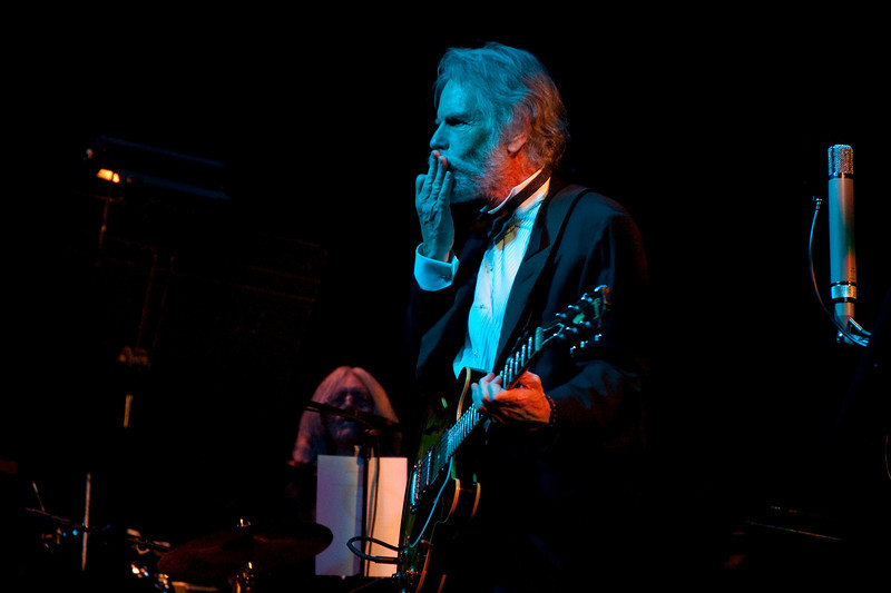 Bob Weir gestures to the musicians of the Marin Symphony in a performance featuring the music of the Grateful Dead at the Marin Veterans Memorial Auditorium in San Rafael, Calif. on Saturday, May 7, 2011. (Special to the IJ/ James Cacciatore