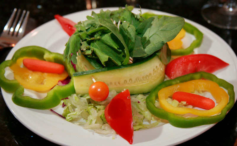 The mixed green salad at Prabh Indian Kitchen on Sunnyside Avenue in Mill Valley, Calif. Wednesday, September 5, 2012. (Special to the IJ/James Cacciatore)