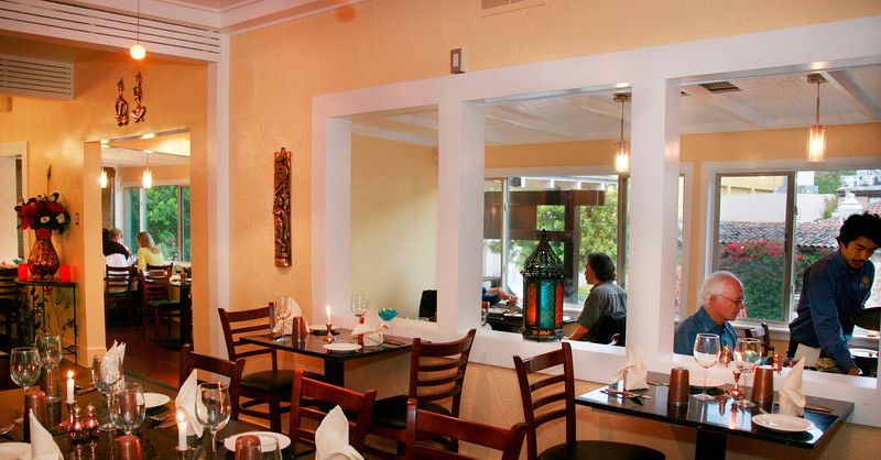 Prabh Indian Kitchen's dining room on Sunnyside Avenue in Mill Valley, Calif. Wednesday, September 5, 2012. (Special to the IJ/James Cacciatore)