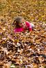 Mia and fall leaves - 2015-10-31